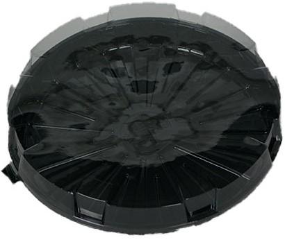 Cateringschaal pet rond 180mm hoog 20mm zwart 19DXN30