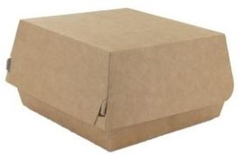 Hamburgerbox karton 115x115x80mm bruin