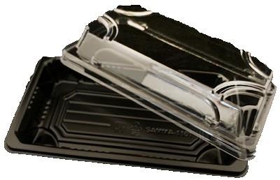 Sushitray zwart 220x90x20mm HP02 combi box ps
