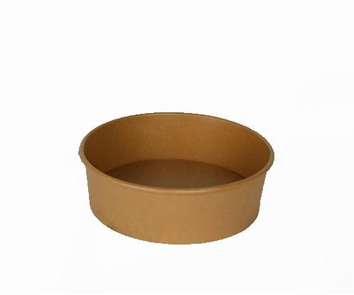 Saladebowl bruin karton 1500ml ø20cm