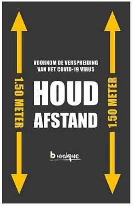 Stoepbord poster Covid-19 70x100cm