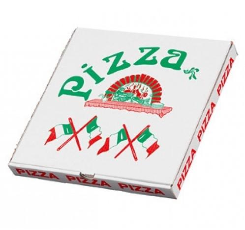 Pizzadoos Italiaanse vlag 32x32x3 cm