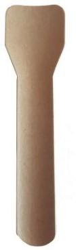 IJslepel papier bruin 9,4cm P2P