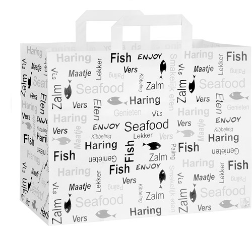 Vis draagtas witkraft 32x17x25cm Enjoy Fish