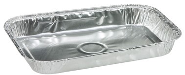 Aluminium schaal 130x190x20mm 400ml 21218