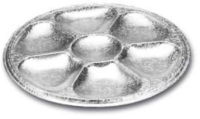 Aluminium schaal Fondue 7 vaks rond 27,7 cm