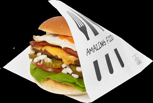 Snackzak Amazing Food Hamburgerzak 15x15cm
