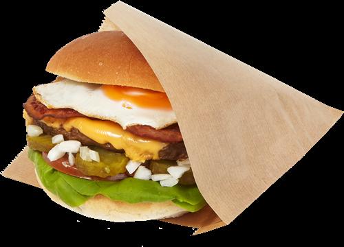 Hamburgerzak 15x15cm 2 zijden open bruin