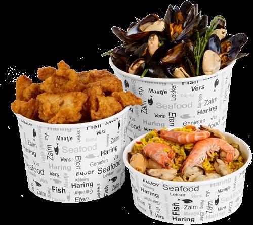 Vis bucket klein 1250ml 42oz Enjoy Fish