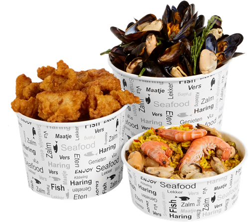 Vis bucket groot 2500ml 85oz Enjoy Fish