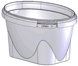 Bakje pp Elito 132-345cc helder inclusief deksel