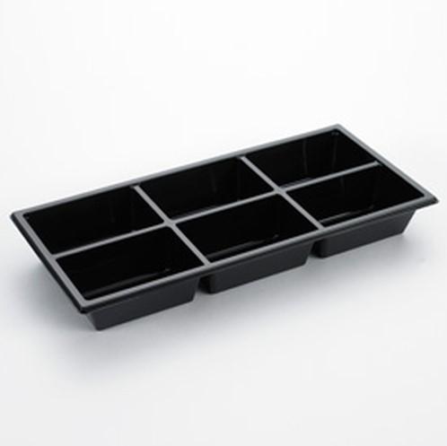 Bakje apet 6 vaks 570ml zwart 440576