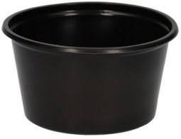 Bakje pp 100/080 rond 70,3mm 80cc zwart