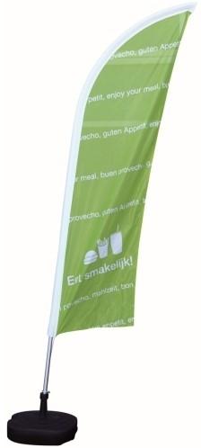 Beachvlag groen Eet Smakelijk 230x60cm $