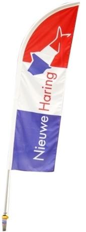 Beachvlag Hollandse Nieuwe Haring 230x60cm