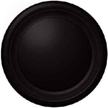 Bord ps zwart 23cm Buffet