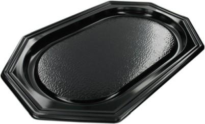 Cateringschaal ps 8 hoek 55cm zwart