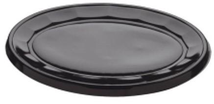 Cateringschaal ps ovaal 35cm zwart