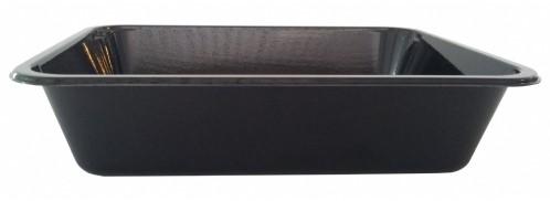 Bak cpet 226x177x50mm 1350ml 1 vaks zwart 1002.10