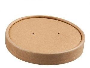 Deksel tbv soepbeker 16oz Ø115mm bruin