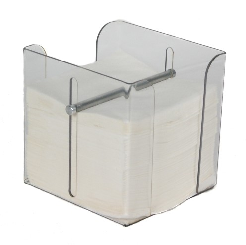 Dispenser voor servet 33x33cm transparant