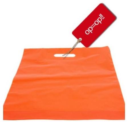 Draagtas spirit 38x44+2x4 cm oranje $