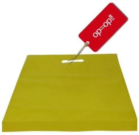 Draagtas spirit 38x44+2x4 cm yellow $