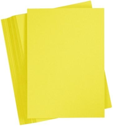 Etalagekarton 385 gram geel 12x16 cm