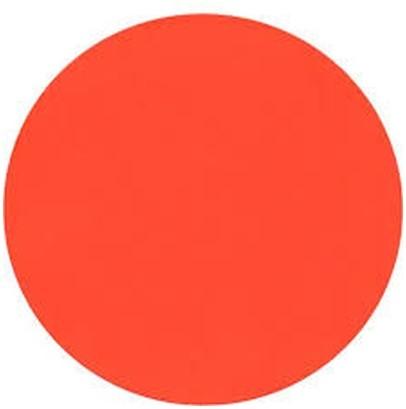 Etiketten fluor rood rond 35 mm