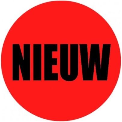 Etiketten nieuw rood rond 35 mm
