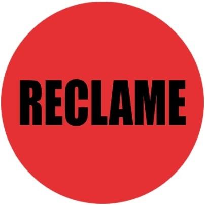 Etiketten reclame rood rond 35 mm