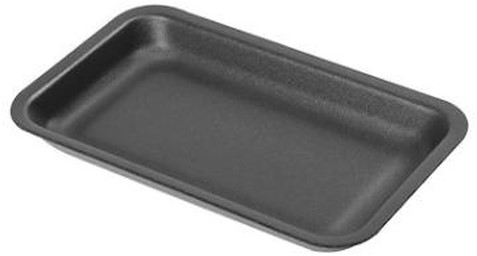 Foodtray zwart 72-19 225x105x21mm
