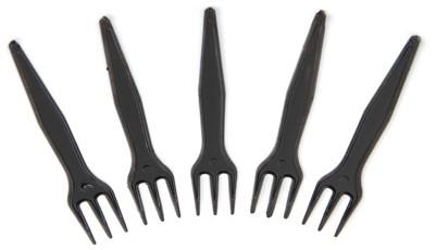 Frietvorkje 3-tands 8,5cm zwart