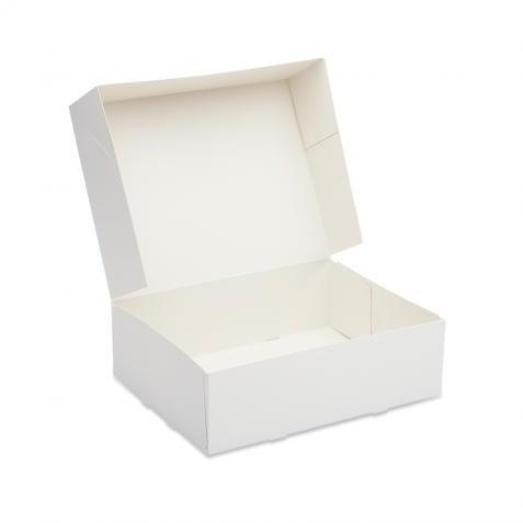 Gebaksdoos 21x21x8cm wit blanco