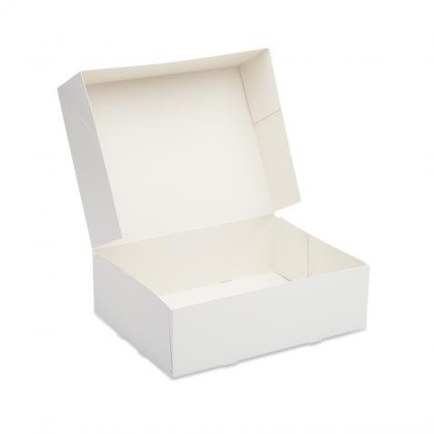Gebaksdoos 26x20x8cm wit blanco 0125