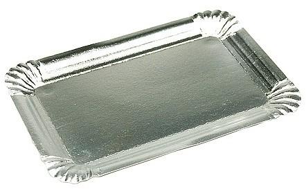 Gevoerd schaaltje 18x26 cm zilver