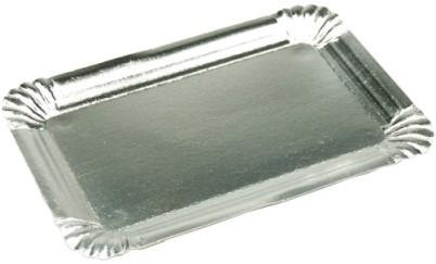 Gevoerd schaaltje 23x32 cm zilver