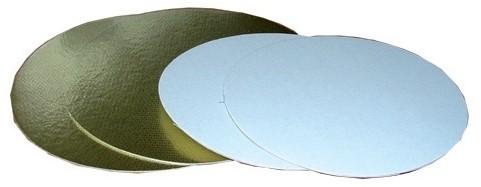 Goud/zilverkarton 700 gram rond 18cm