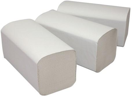 Handdoek profi Z-vouw wit Paper2Paper 2lgs 25x23cm