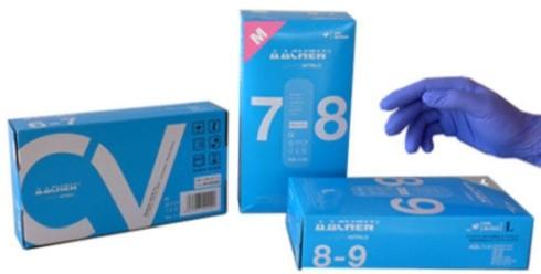Handschoen nitril blauw M ongepoederd 7-8