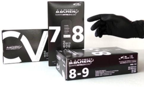 Handschoen nitril zwart M ongepoederd 7-8