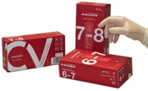 Handschoen vinyl wit S ongepoederd 6-7