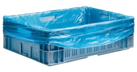 Hdpe kratzak 60/20x80cm blauw 20my