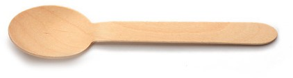 Lepel hout 16,5cm