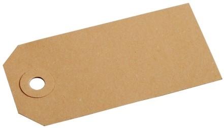 Kartonnen label bruin 25x50 mm nr. 0