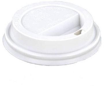 Koffiebeker deksel WIT 80mm open hoog 8oz 11 801