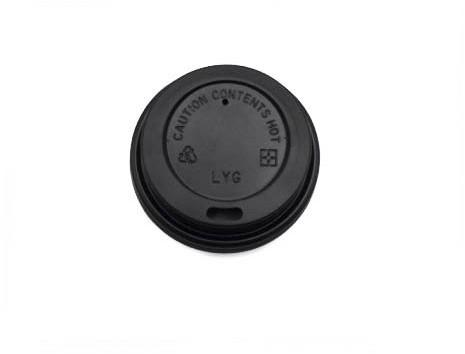 Koffiebeker deksel 62mm open hoog 4oz zwart 11807