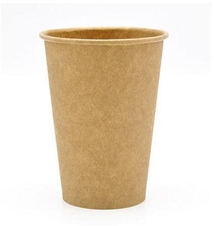 Koffiebeker karton 180 ml 7oz bruin Ø72mm