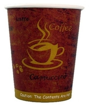 Koffiebeker karton 180ml 7oz Espresso gold