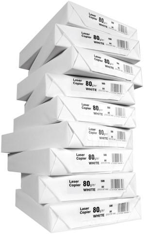 Kopieerpapier 75/80grs wit A4